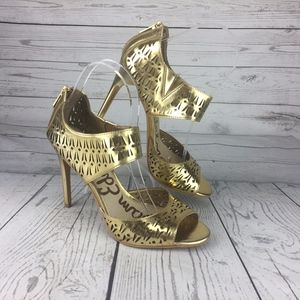 Sam Edelman Women's High Heels Gold Sz 8 Stiletto